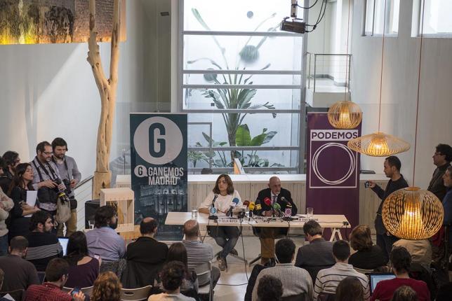 Acto de presentación de la confluencia entre Podemos y Ganemos en Madrid el pasado enero. / ÁLVARO MINGUITO