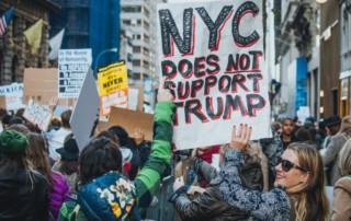 Manifestación contra Donald Trump en Nueva York. 12 de noviembre de 2016. MATHIAS WASIK